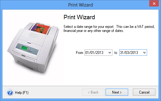 The print wizard